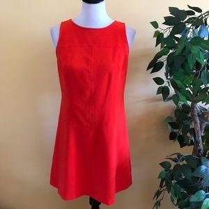 Loft Red Sleeveless Mini Dress Size 6 Petite
